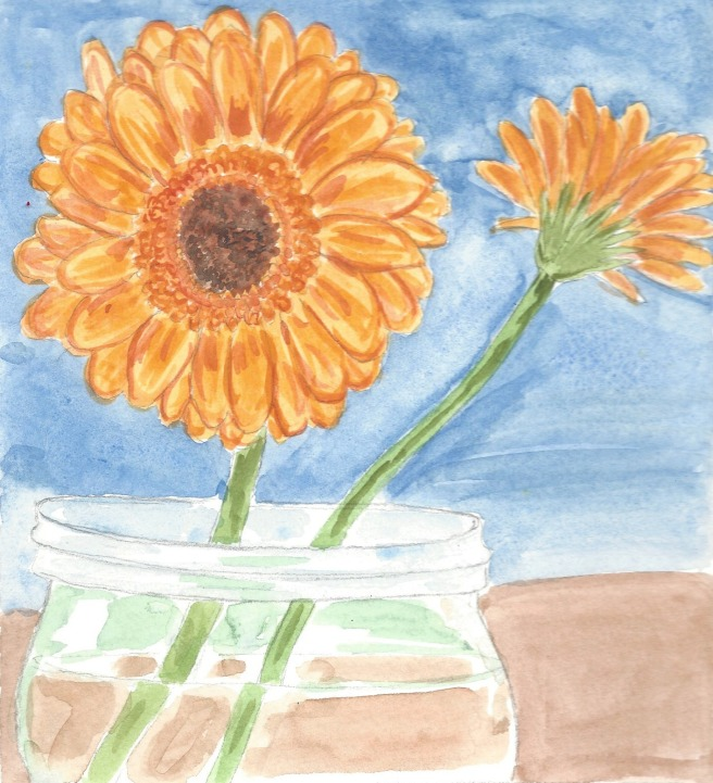 Painting Spring- Gerber Daisy