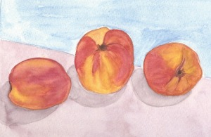 Summer Camp Day two Watercolor peach-Assignment one