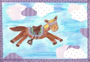 Magic horse crayon