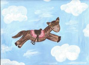 Magic horse painting