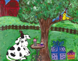 Summer camp-cow and canary