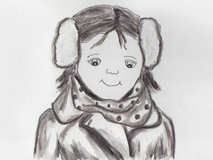 Girl with ear muffs