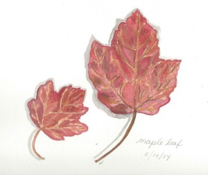 Painting fall - leaf