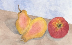 Painting fall - pears cropped