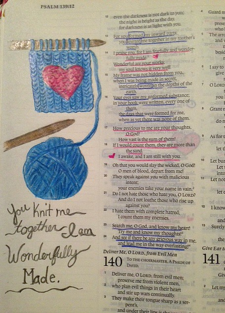 bible journal wonderfully made