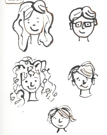 ink face drawings letter I